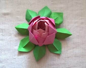 Origami Lotus Flower (6pcs) shades of pink
