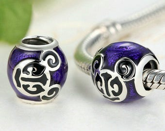 silver charms Authentic Sterling silver charm beads perfect fit for Pandora and troll or European bracelets
