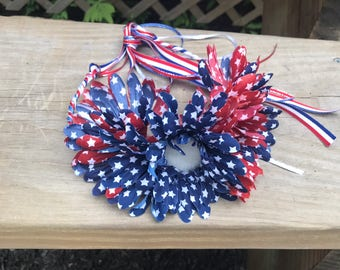 Patriotic flower crown - 4th of july flower crown - flower crown