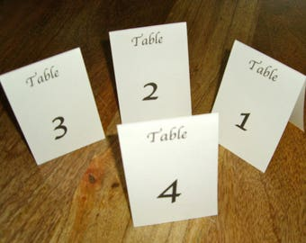 Wedding Table Numbers 1 - 10