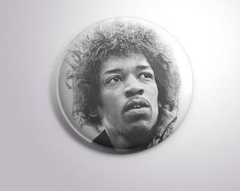 JIMI HENDRIX GUITARIST - pins / buttons / magnets