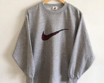 BIG SALE Vintage Nike Swoosh Spellout Hip Hop Nike Big Logo Nike Sweatshirt