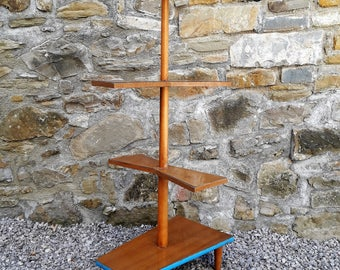 Vintage Mid Century Flower Table / Tripod Plant Stand / Flower Rack / Formica / Germany 60s