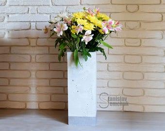 Concrete vase Convase40