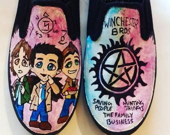 Supernatural hand painted shoes