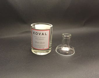 HANDCRAFTED Candle 200ML Koval Four Grain WHISKEY BOTTLE Soy Candle. With/Without Base. Made to Order !!!!!