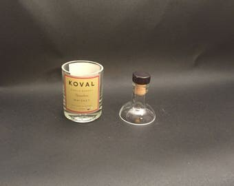 200ML Koval Single Barrel WHISKEY BOTTLE Soy Candle. With/Without Base. Made to Order !!!!!