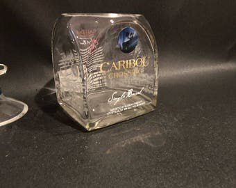 Caribou Crossing Candle  Whiskey Bottle  Candle With/Without Pedestal Base. . 750ML. Made to Order !!!!!!