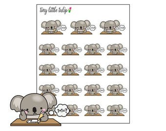 Planner Stickers Koala Homework