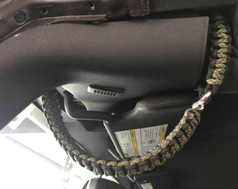 Jeep Wrangler Paracord Double Wrapped Grab Handles (2 Door)