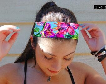 Floral Headband, Yoga Headband, Fitness Headband, Adult Headband, Custom Headband, Women's Headband, Thick Headband, Thin Headband