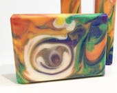 Key West | Handcrafted Artisan Soap | Rainbow | Cold Process | Palm Free | Luxury Soap | Clyde Slide | Be Delicious