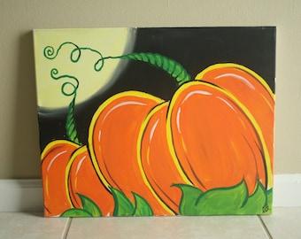 Pumpkin Patch Acrylic Painting