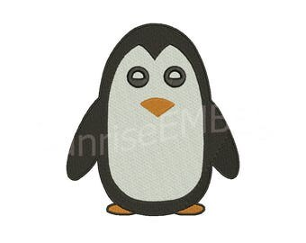 8 Sizes**Penguin Embroidery design- 8 formats machine embroidery design - Instant Download machine embroidery pattern