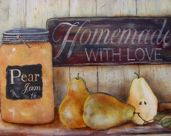 "16 x 12 ""Pear Jam"" Print from My Original"