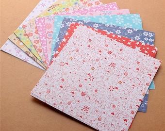 72 Sheets (15 cm x 15 cm) Multi Design Origami Scrapbooking Paper