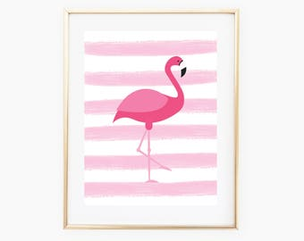 Flamingo Wall Art, Flamingo Printable, Flamingo Decor, Flamingo Art, Wall Print Download, Flamingo Nursery, Flamingo Art