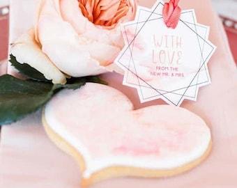 Whimsical wedding favor tags