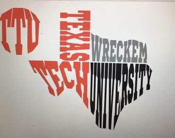 Texas Tech Decal
