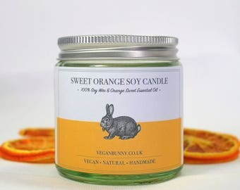 Orange Soy Candle: Vegan & Natural Made with Essential Oil