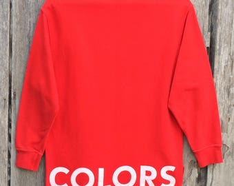 Vintage colors of benetton made in italy Spell Out Big logo Sweatshirt