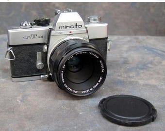Summer Sale Minolta SRT101 with 50mm 3.5 MC Macro QF Lens Camera