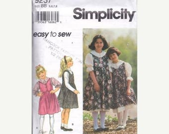 S Simplicity 9237 Childs' Separates Sewing Pattern