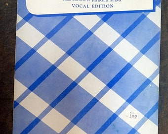 1953 THE VELVET GLOVE Vocal Edition Sheet Music by Harold Spina