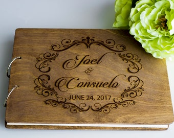 Wedding Guestbook, Engraved Wedding Guestbook, Custom Wedding Guestbook, Wedding Guestbook Ideas, Rustic Wedding Guestbook