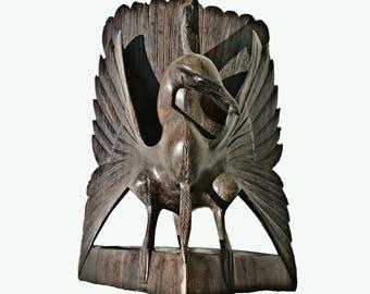 Wooden bird carving