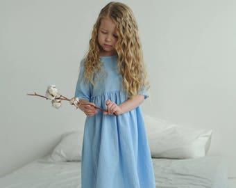Little dress, dress for girl, cotton dress, linen dress, linen dress for girl