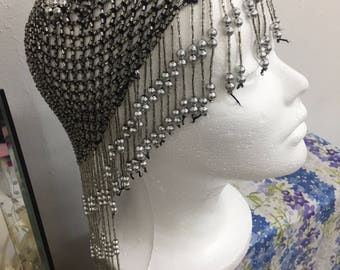 Vintage 1920's Beaded Flapper Great Gatsby Style Headpiece