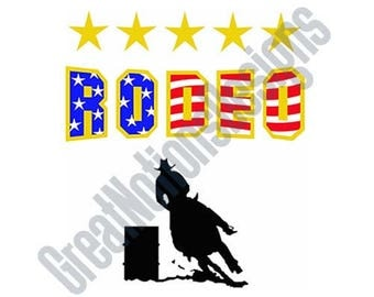 Rodeo Barrell Racing - SVG - HTV - Vinyl Cutting Graphic Art