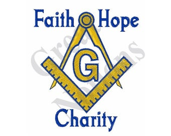 Faith Hope Charity - Machine Embroidery Design