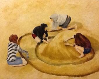 Building sandcastle