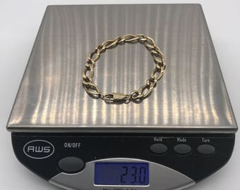 """Gents 14k yellow gold solid links bracelet ,it contains 23 grams,8"""" long and 1/4"""" wide"""