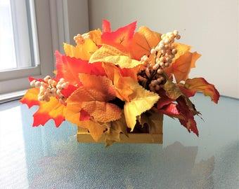fall flower arrangement small flower centerpiece fall centerpiece small silk flower arrangement