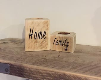 Handcrafted Reclaimed & Upcycled Candle Holders set of 2