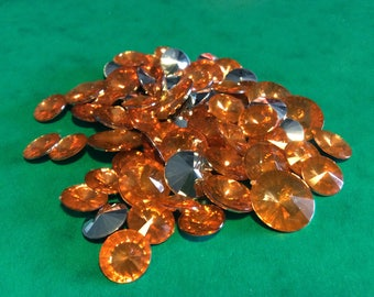 Set of rhinestone orange and silver spikes