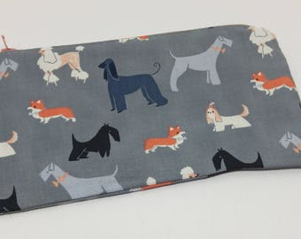 Fancy Dog Breeds Novelty Zipper Pouch - makeup bag; pencil case; gift for her; cosmetic bag; carry all; gadget case;