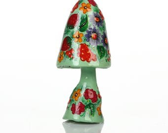Petrykivka Wood Mache Painting Decoration Petrykivka Figurine Art Miniature Painting Gift Painting Decoration