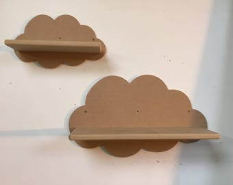 MDF cloud shelf small 350mm wide