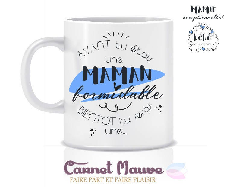 Top MUG ANNONCE GROSSESSE mamie exceptionnelle WY23