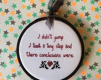Buffy the Vampire Slayer Quote. Finished Cross Stitch.