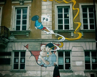 Street Art Photography, Urban Photography, Warsaw Photography, Warsaw Photo, Warsaw Print, City Photography, City Photo, Street Art Photo