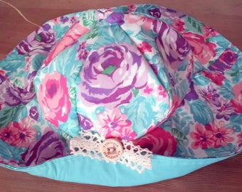 Cotton Floral Sun Hat for little girls