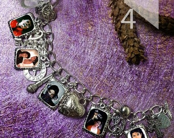 Michael Jackson   charm  Bracelet necklace