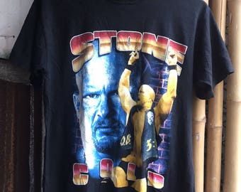 """90s """"Stone Cold"""" Steve Austin WWF Wrestler T Shirt"""