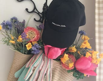 Peace. Love. Junk. Ball Cap |Baseball cap | summer | Thrifting