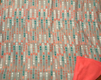 Fleece Arrow Pattern weigted blanket